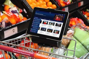 Shopping Cart with iPAD interface